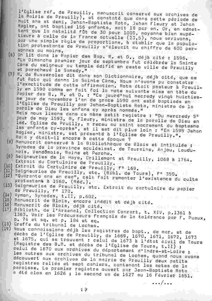 Cahier de la Poterne n°4 : église réformée de Preuilly
