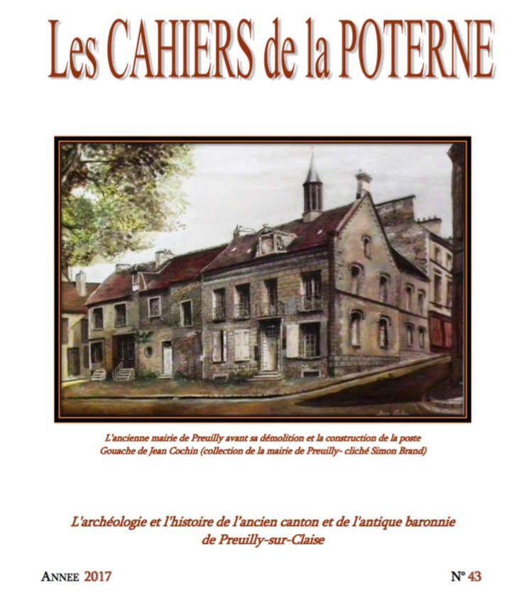 Parution du n°43 des Cahiers de la Poterne (2017)