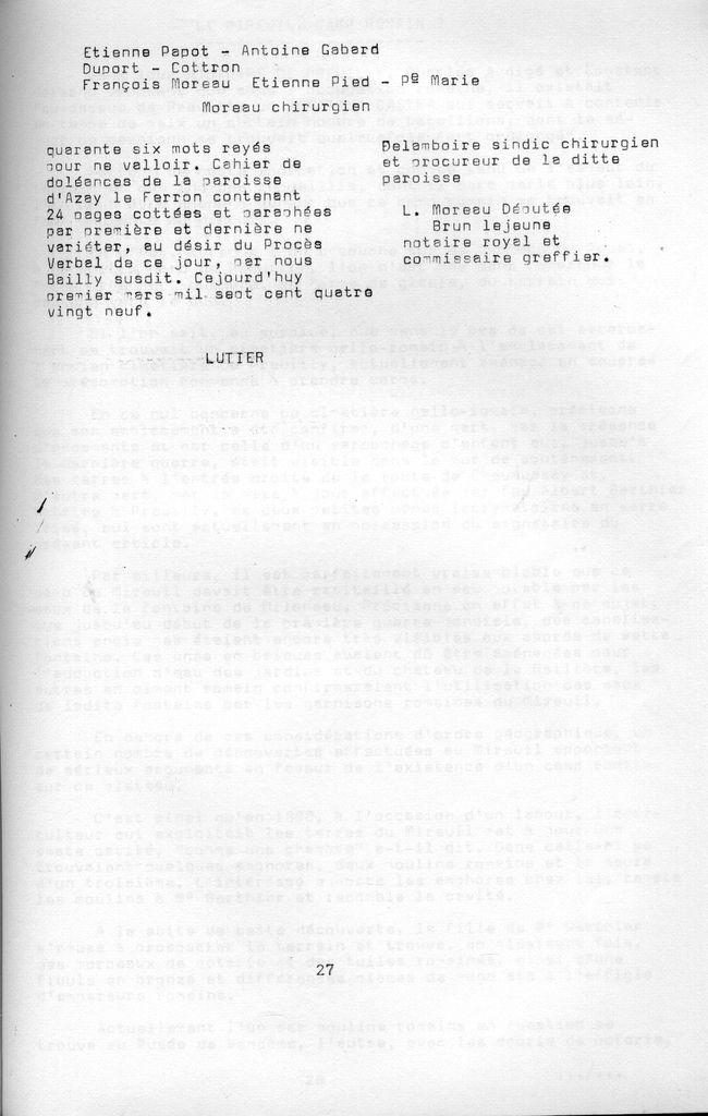 Cahier n°6 : cahiers de Doléances d'Azay-le-Ferron