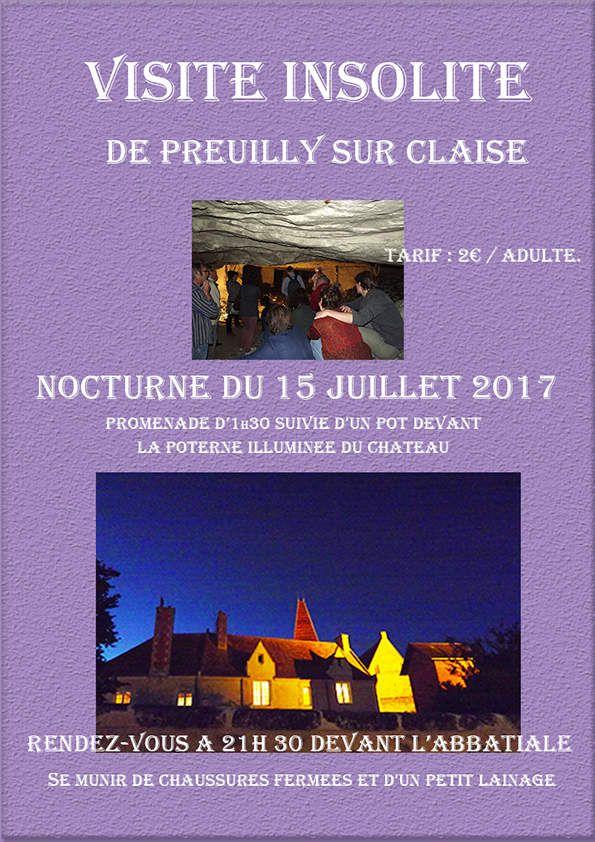 Preuilly : Visite nocturne du 15 juillet 2017