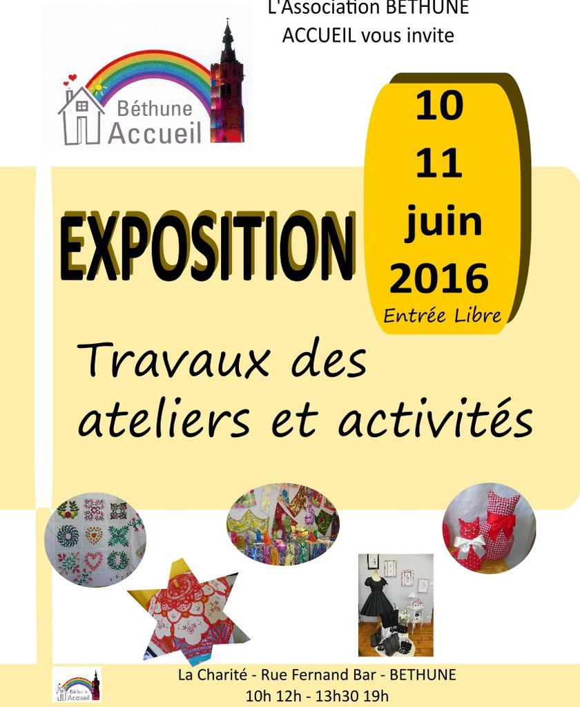 Save the date ! Expo 2016 : le 10 et 11 juin