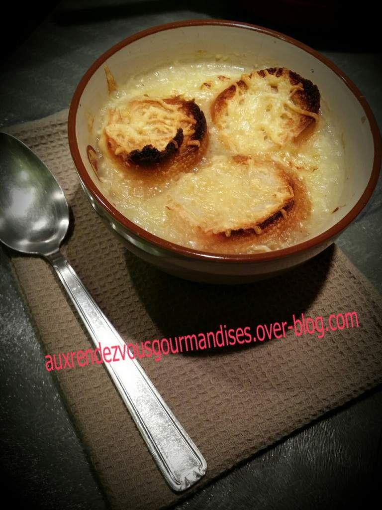 Soupe à l'oignon sans gluten avec ou sans companion