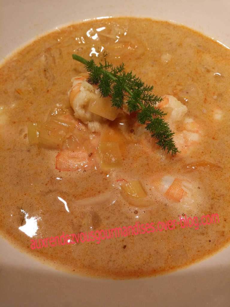 Soupe de crevettes coco épices tandori avec ou sans Companion