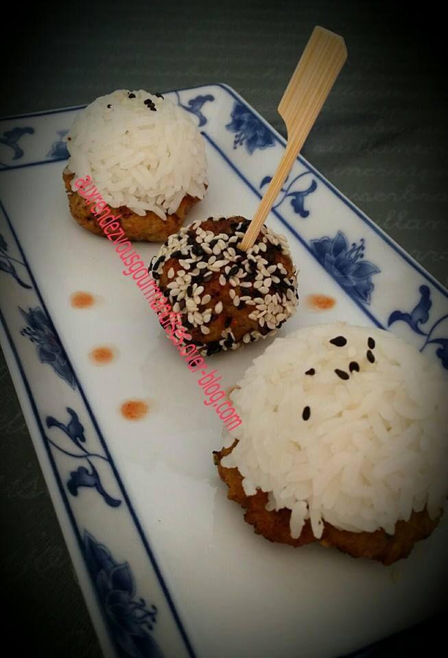 Palets et boulettes de porc gingembre coriandre sans gluten avec ou sans  Companion