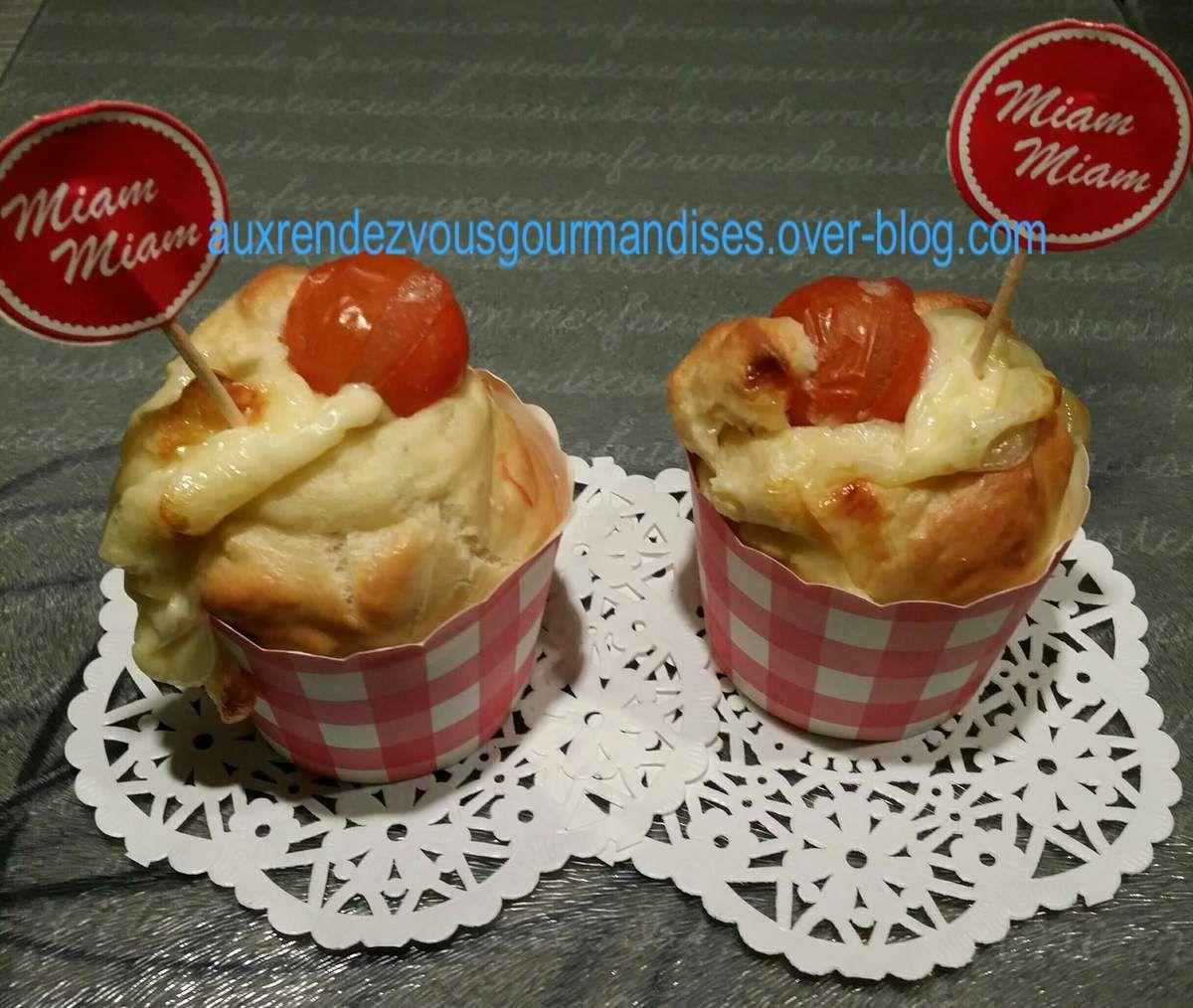 Muffins sans gluten aux olives et au chèvre avec ou sans Companion