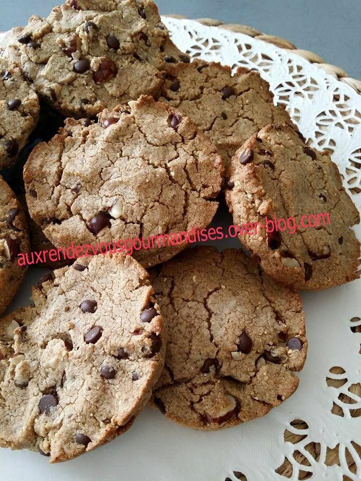 Cookies sans gluten à la farine de châtaigne, noisettes et chocolat avec ou sans Cooking Chef