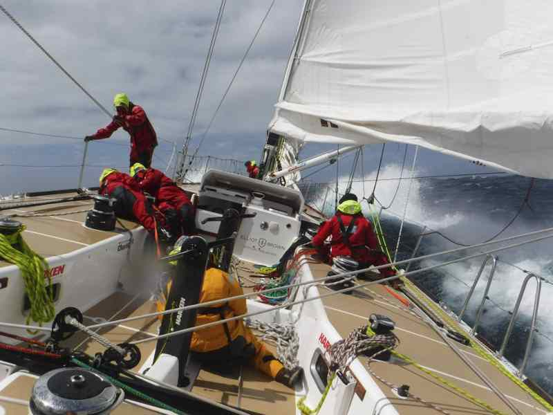 A bord de LMAX Exchange lors de la quatrième étape de la Clipper Race, entre Albany et Sydney (photo Clipper Race)
