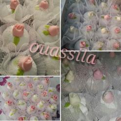 Une commande makrout ellouz décoré en roses et knidlétte,Tcharek glaçé, makrout la3sel