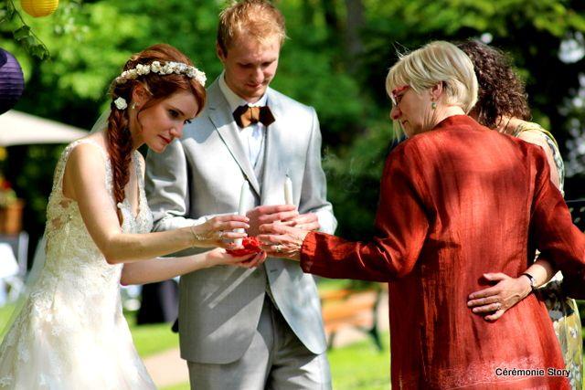 Louise et Colin, une cérémonie joyeuse, naturelle et magique