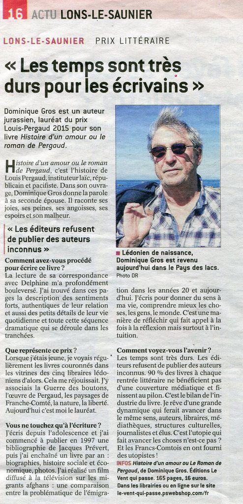 Prix Louis Pergaud 2015