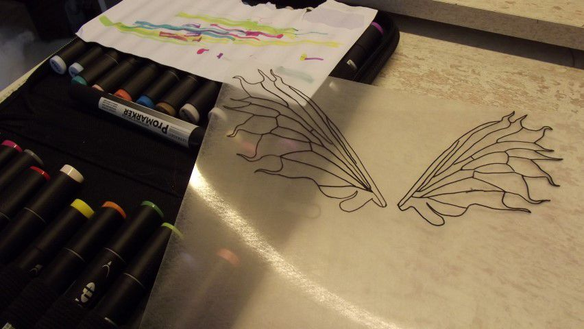 Création d'ailes de fées / Create fairy wings
