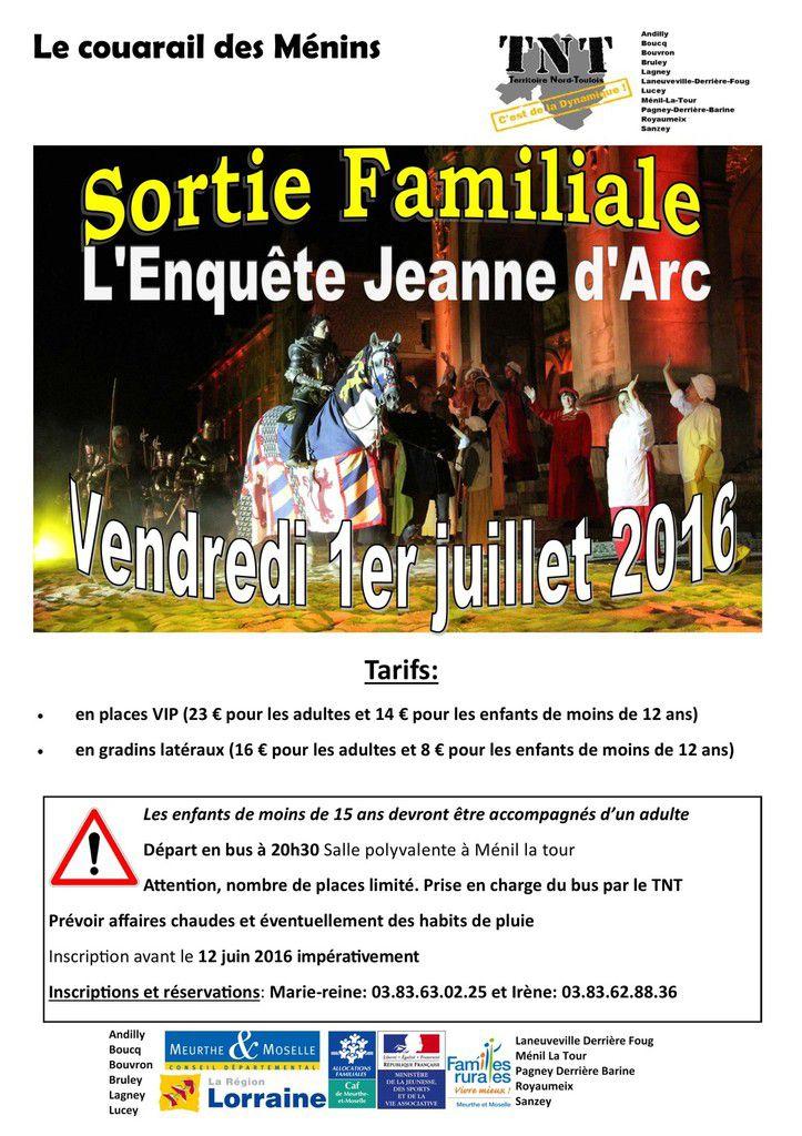 Sortie-spectacle Jeanne d'Arc -vendredi 1er juillet 2016