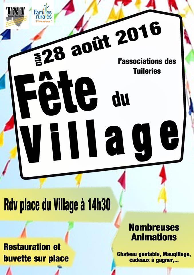 Fête du village à Bouvron le 28 août 2016