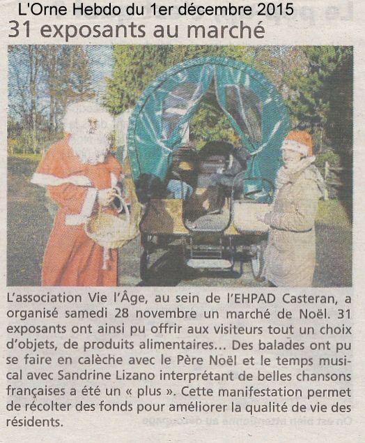 L'Orne Hebdo du 1er décembre 2015.