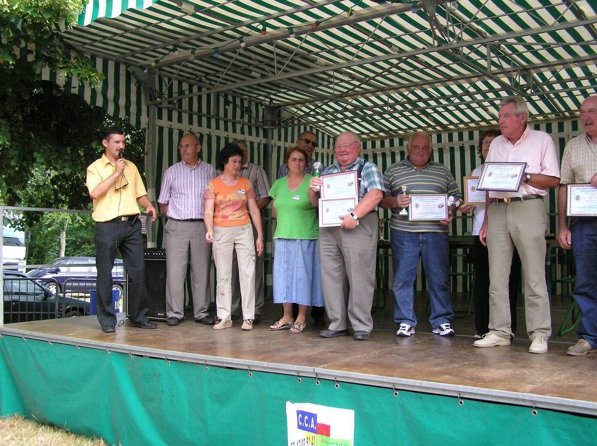 La remise des prix du concours 2006 à Sainte-Anne de Champfrémont le 29 juillet 2006.