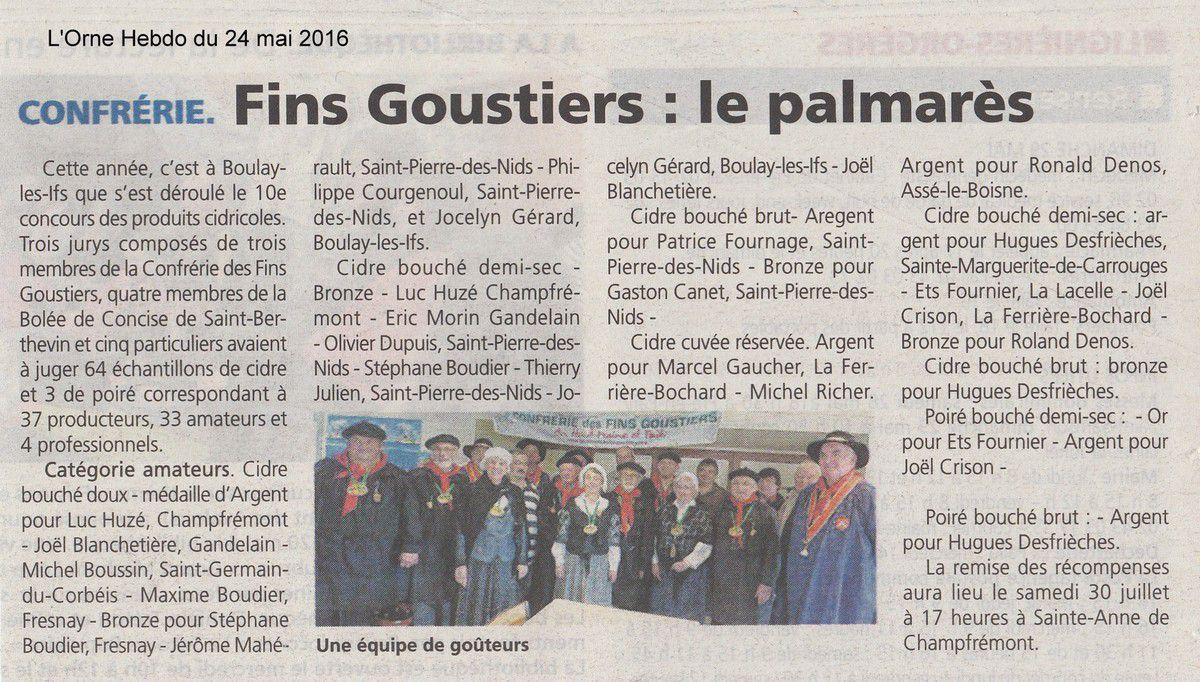 L'Orne Hebdo du 24 mai 2016.