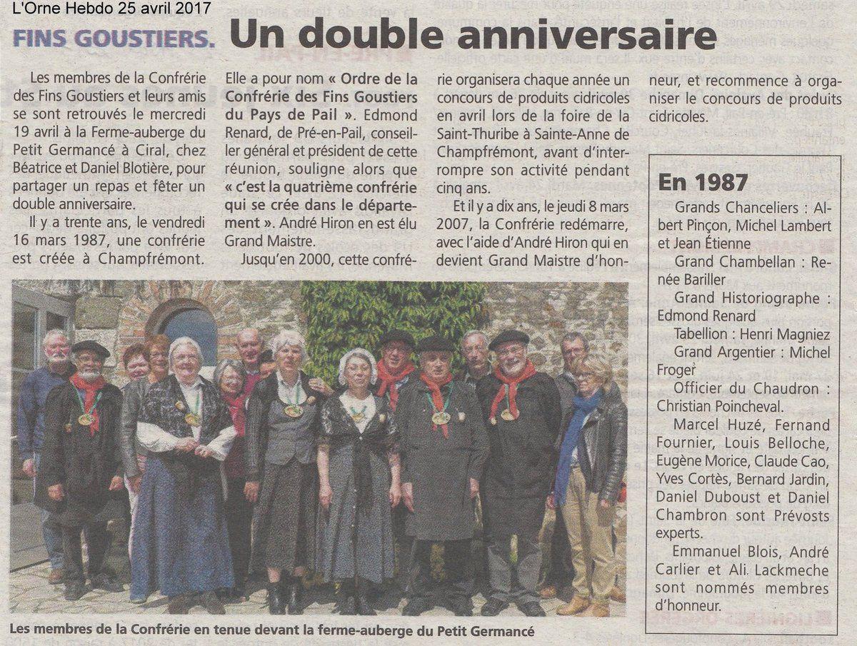 L'Orne Hebdo du 25 avril 2017.
