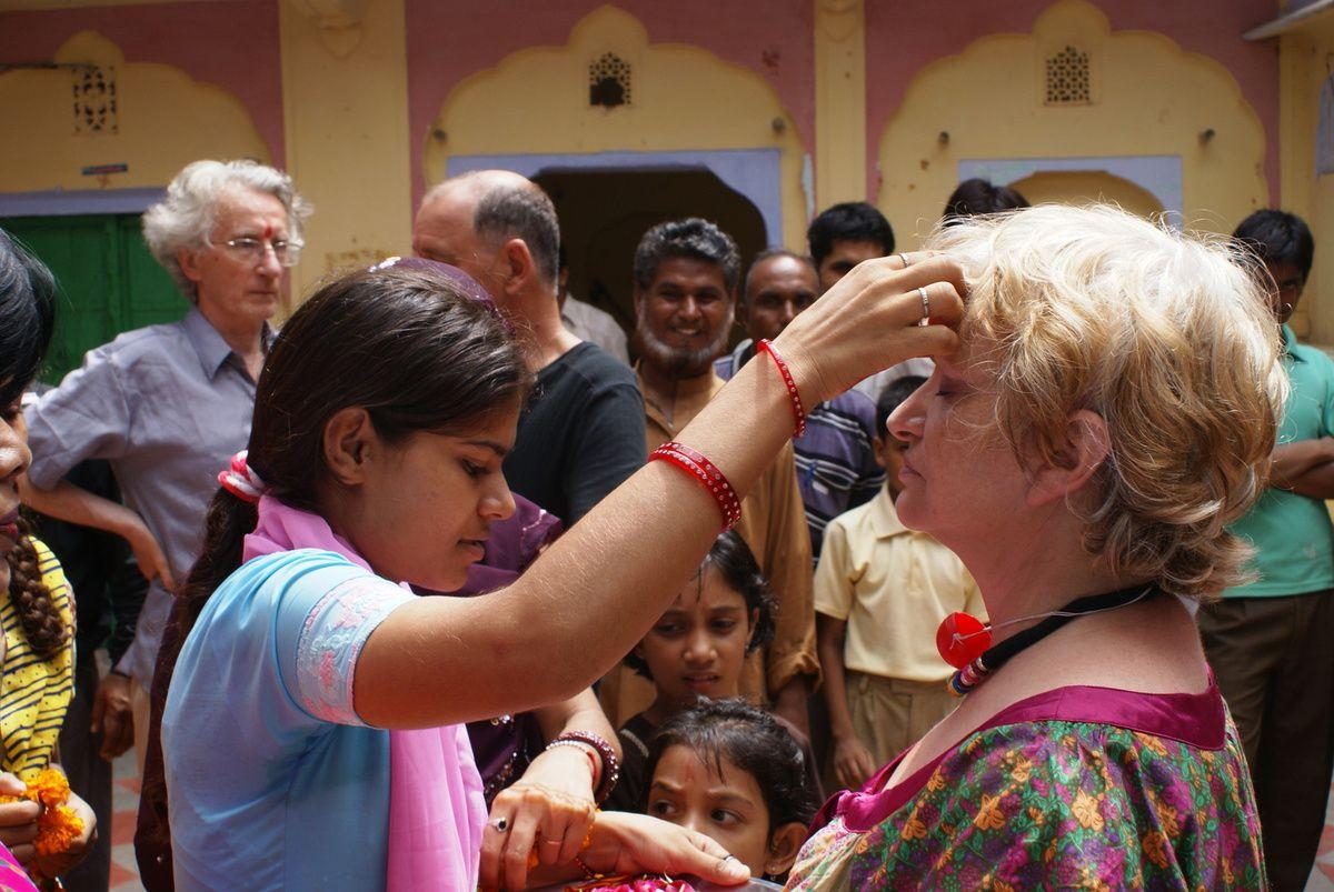 L'accueil chaleureux de nos partenaires indiens.