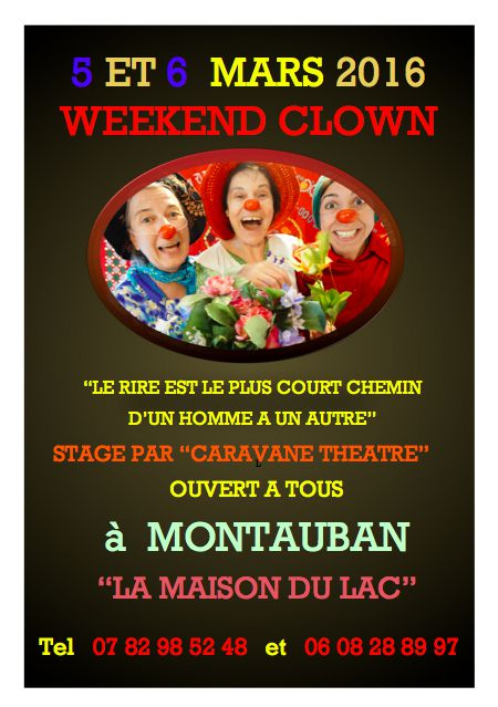 Weekend Clown 5/6 Mars à Montauban.