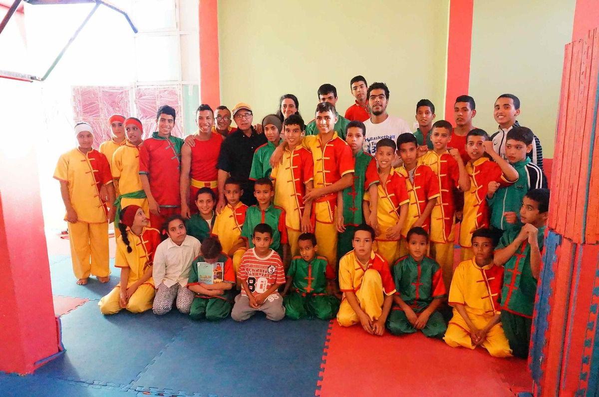 Initiation au Théâtre Forum pour la troupe ILYADA de Ouled Teima (Maroc).