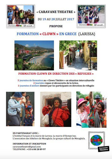 EN GRECE (LARISSA)  FORMATION CLOWN EN DIRECTION DES REFUGIES