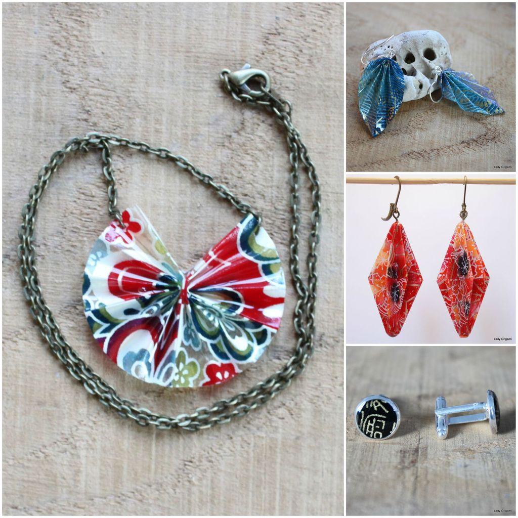 Bijoux en origami et autres jolies choses vus à Monbazillac