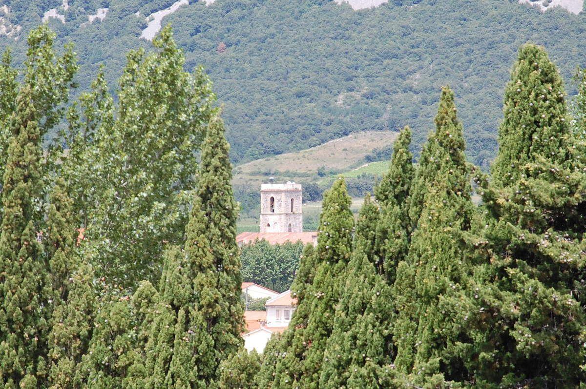 Le clocher de Caudiès.