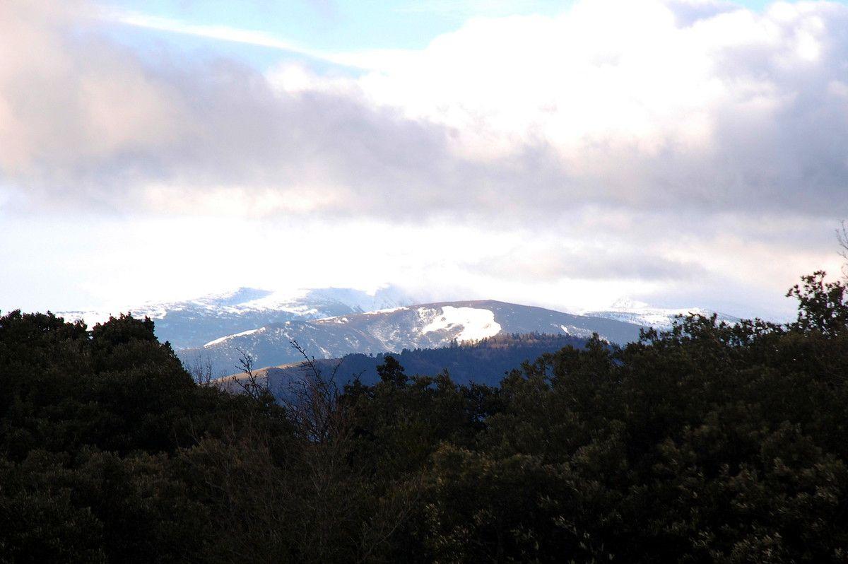 Une vue sur la montagne en janvier 2012.