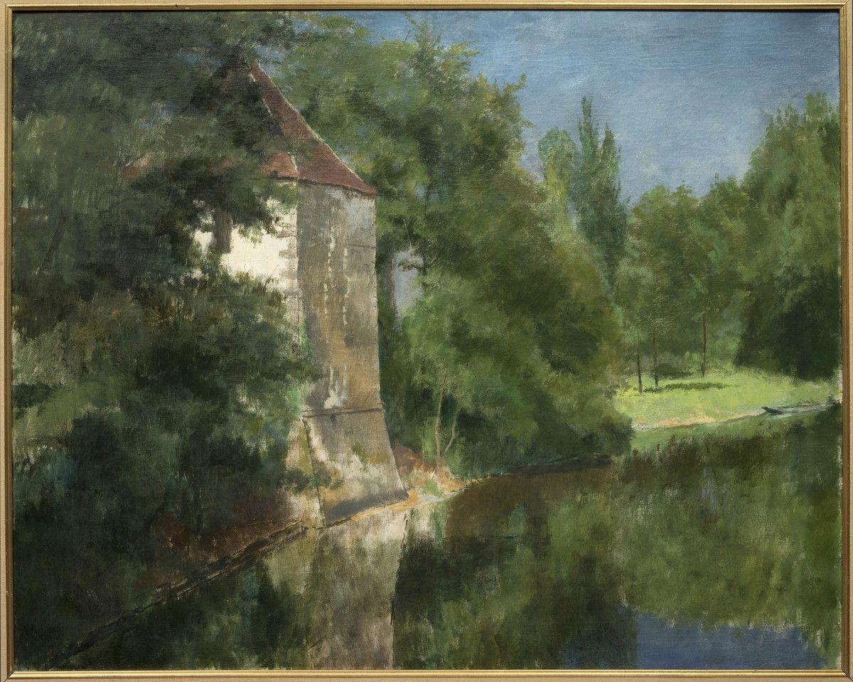 L'Étang du domaine de l'Hermitage, Henri Rouart, 1885
