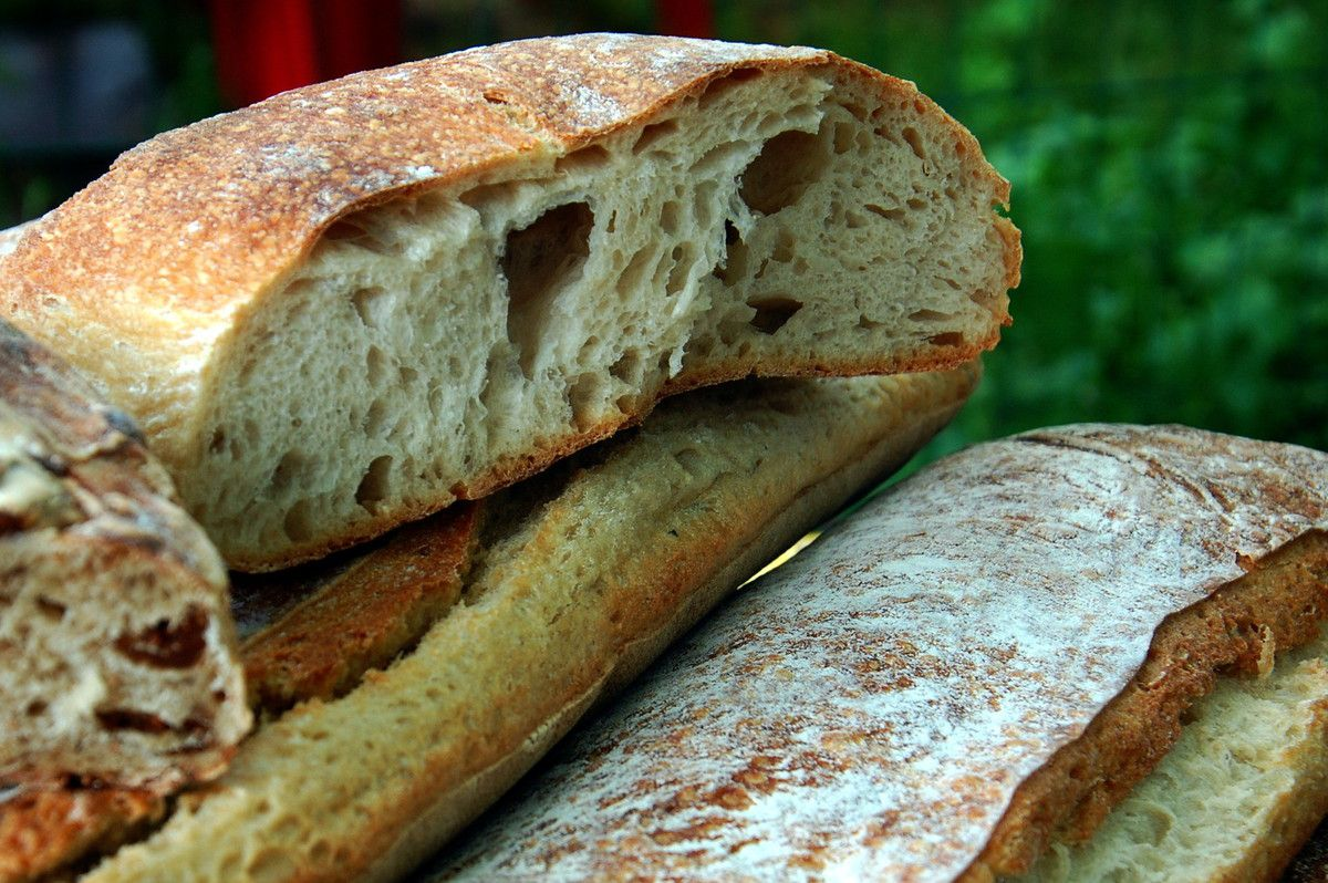 Gros plan sur le pain.