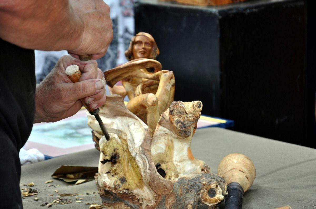 Sculpture en direct.