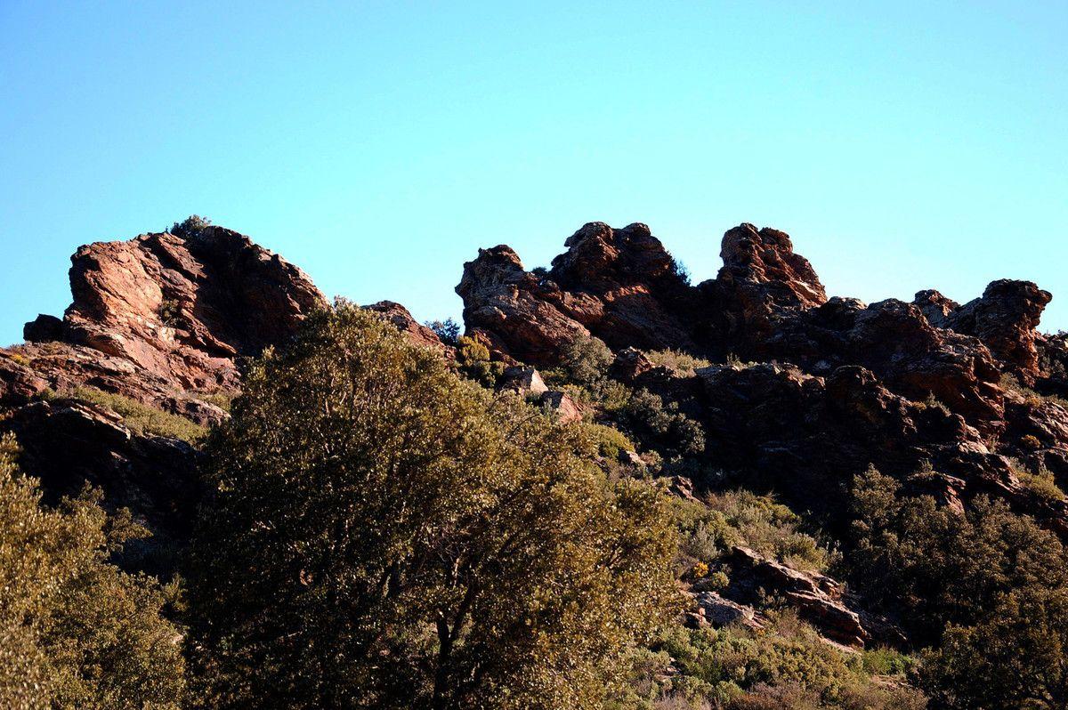 Très joli ces rochers.