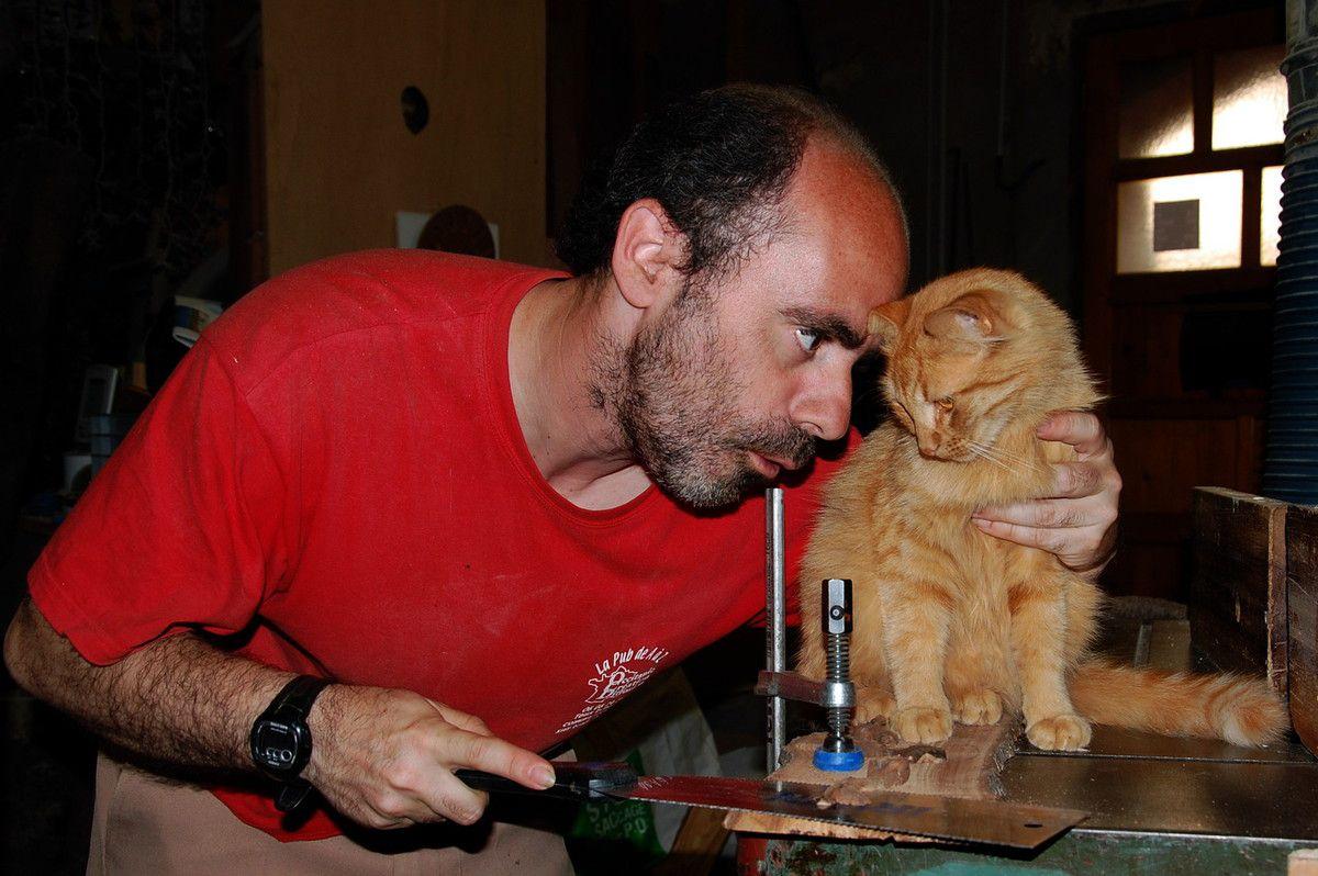 Ton nez est une merveille, tendresse et d'amour chat