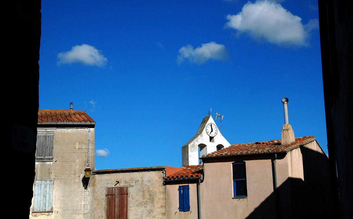 Une belle vue en direction de l'église
