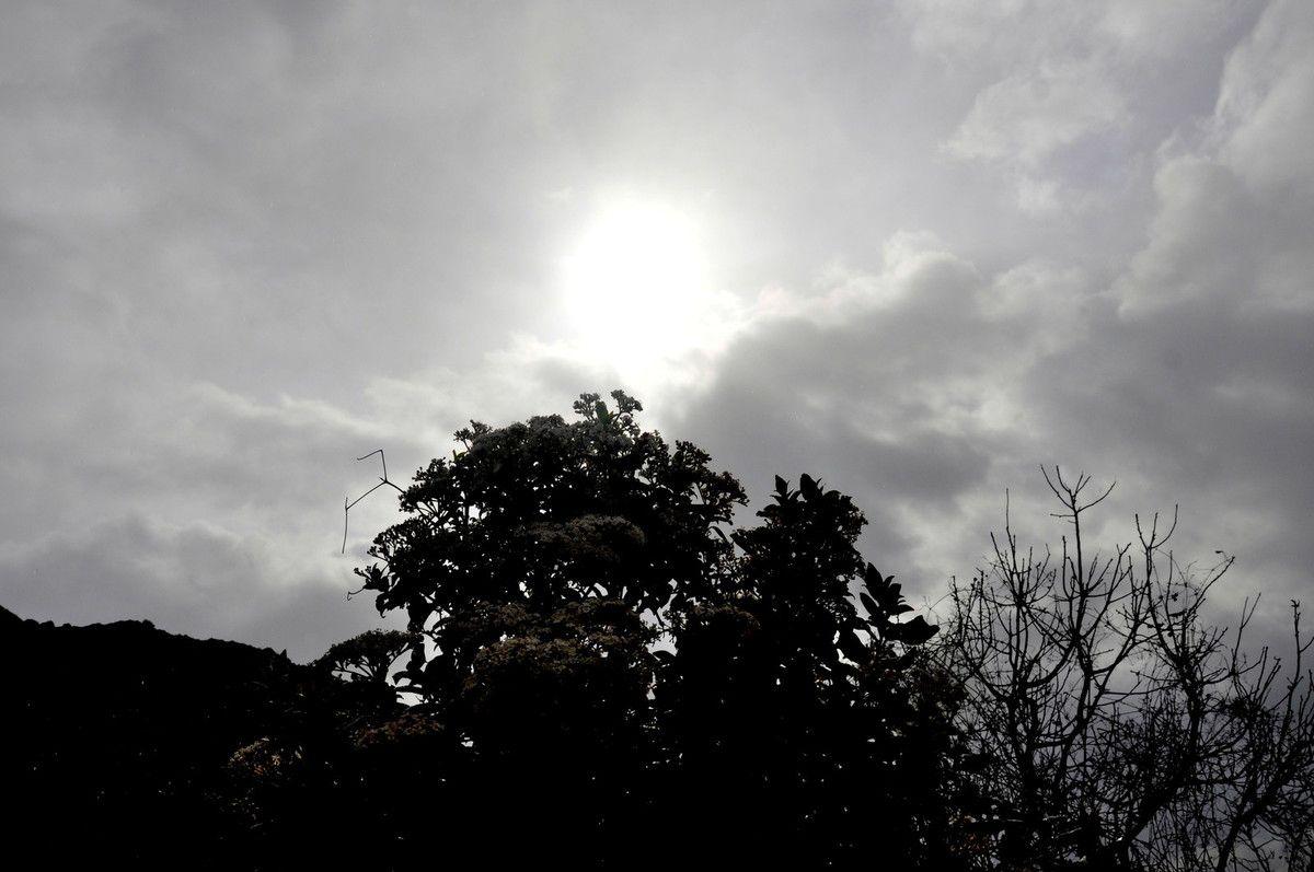 Soleil d'un côté.