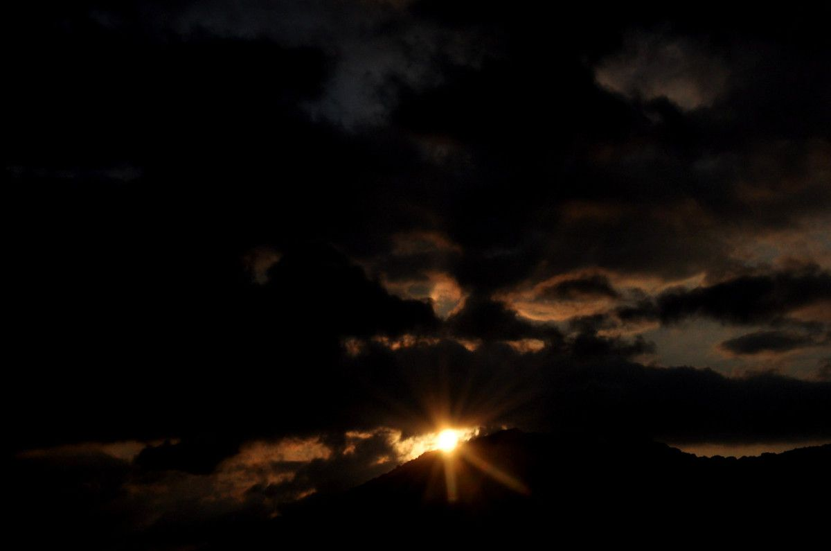 Le soleil monte.