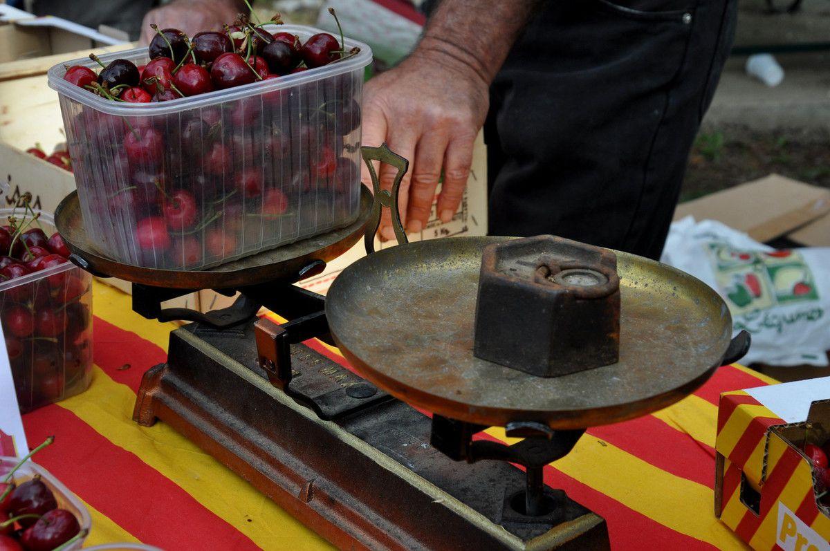 Le poids des cerises.