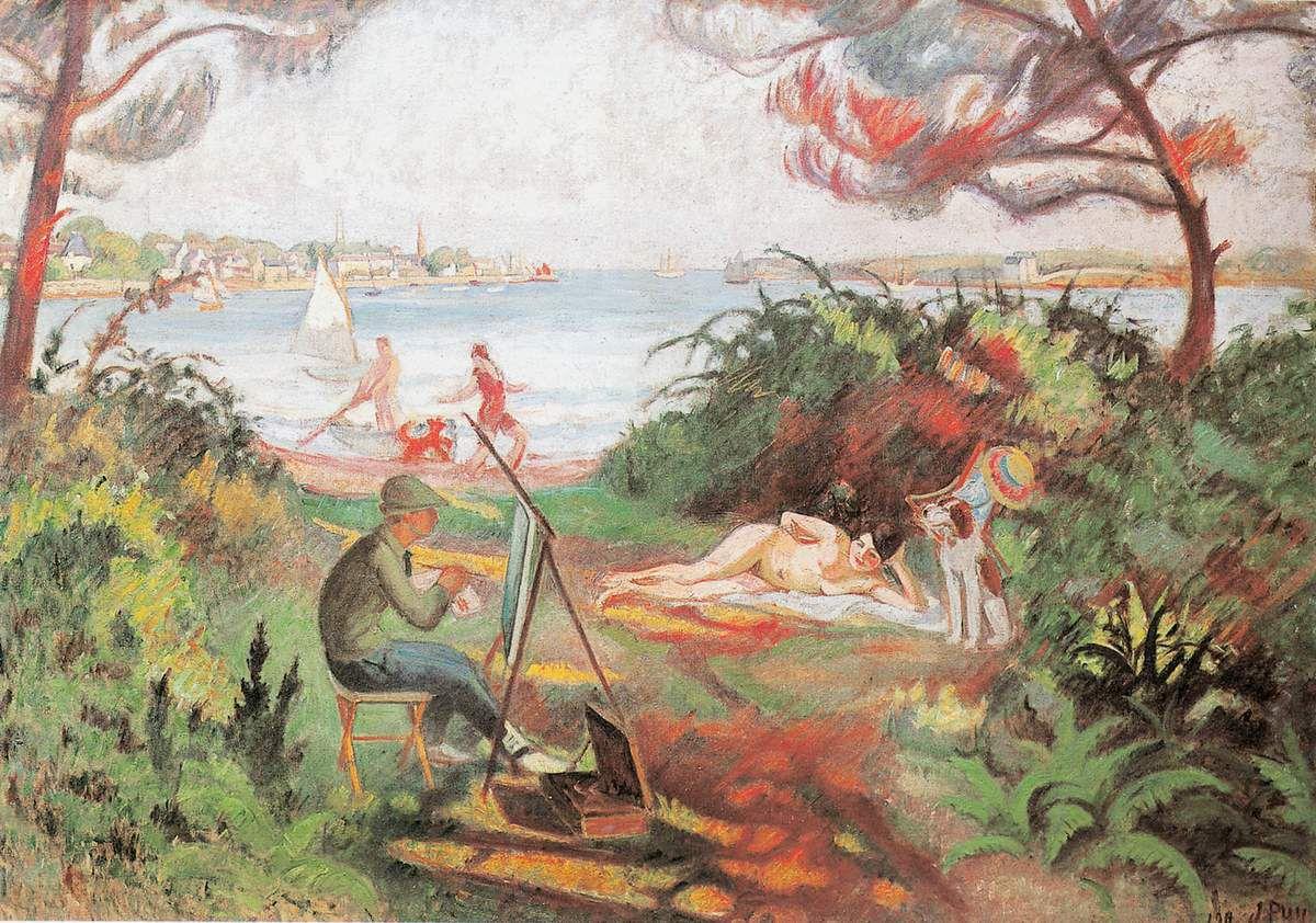 Jean Puy Joies du Plein air ou L'étude en plein air, 1912 Huile sur toile 130 x 184 cm Collection particulière © Tous droits réservés / ADAGP-Paris, 2016