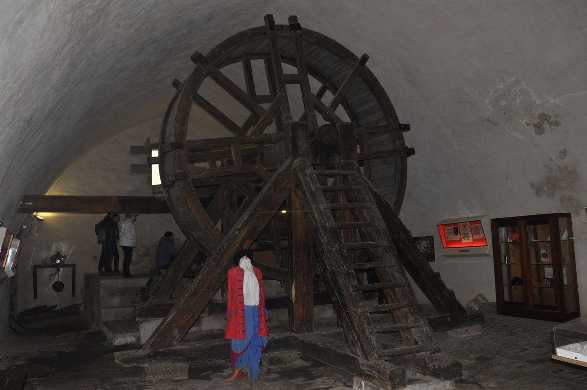 La roue pour le puits.