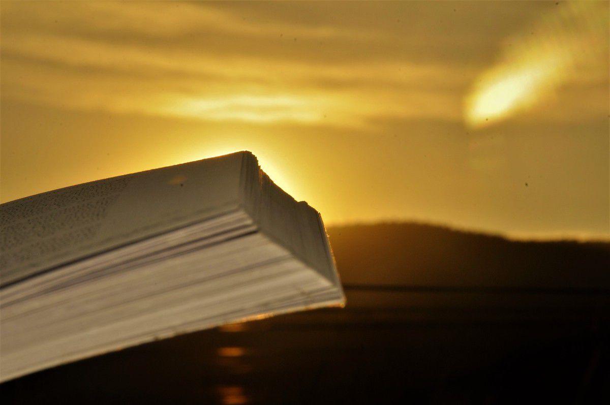 Soleil sur le livre.