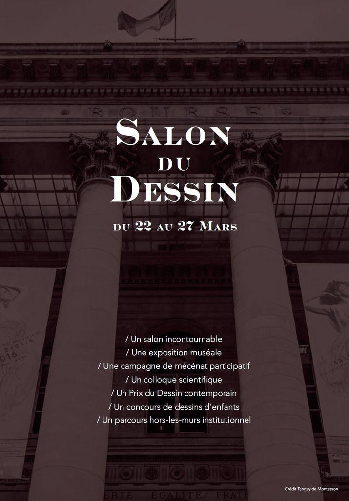salon du dessin Palais brongniart du 22 au 27 mars 2017