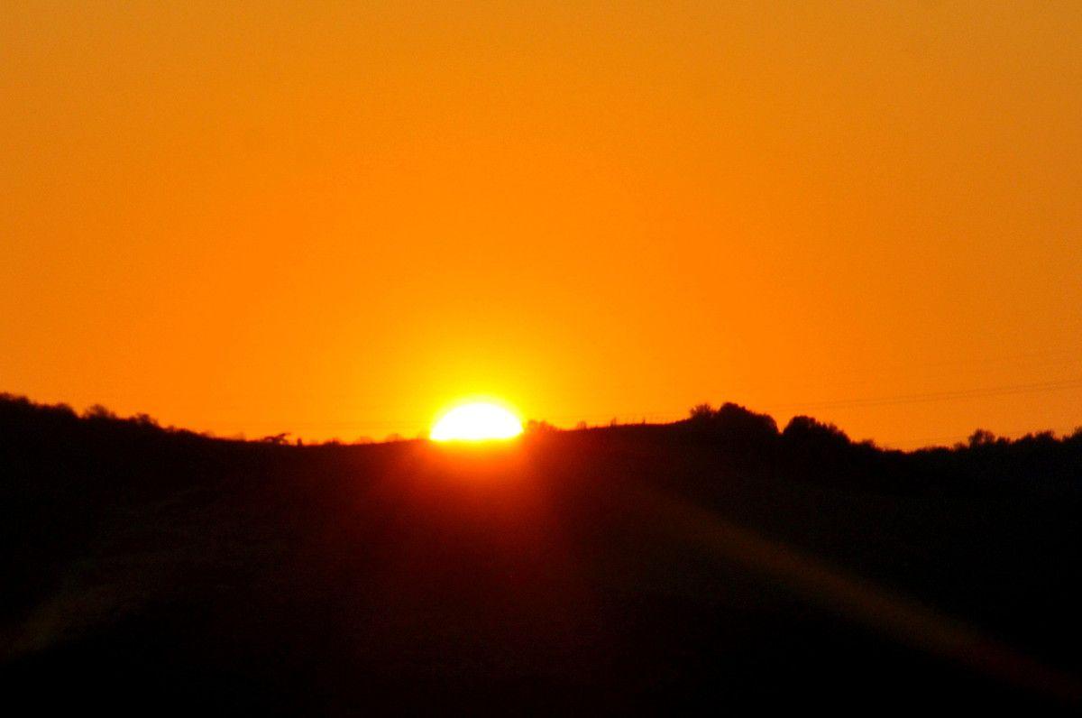 Le soleil va se coucher.