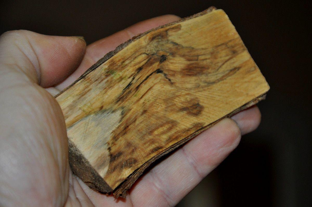 Gros plan sur le bois.