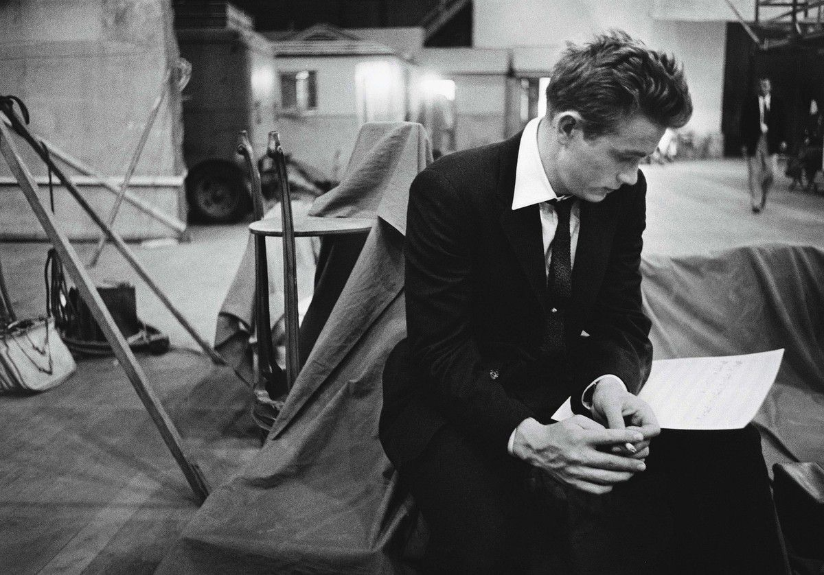James Dean, Warner Brothers Studios, 1955-®-á Bob Willoughby