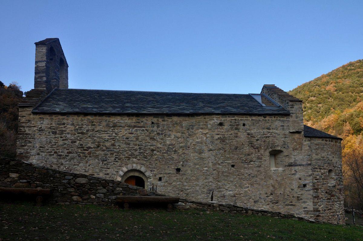 Après les travaux, l'église de Sant Andreu.