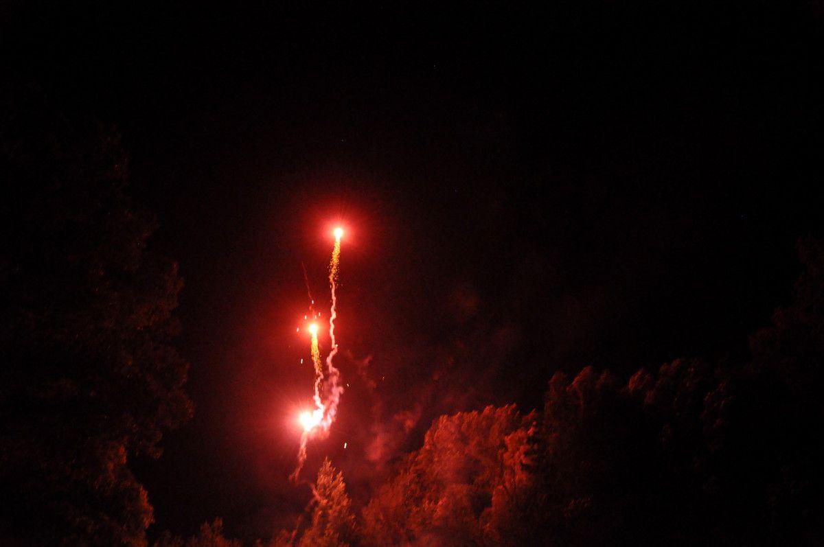 Le feu d'artifice commence.