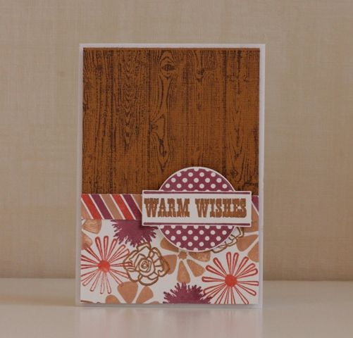 Carte &quot&#x3B;Warm Wishes&quot&#x3B; 100% tampons!!!