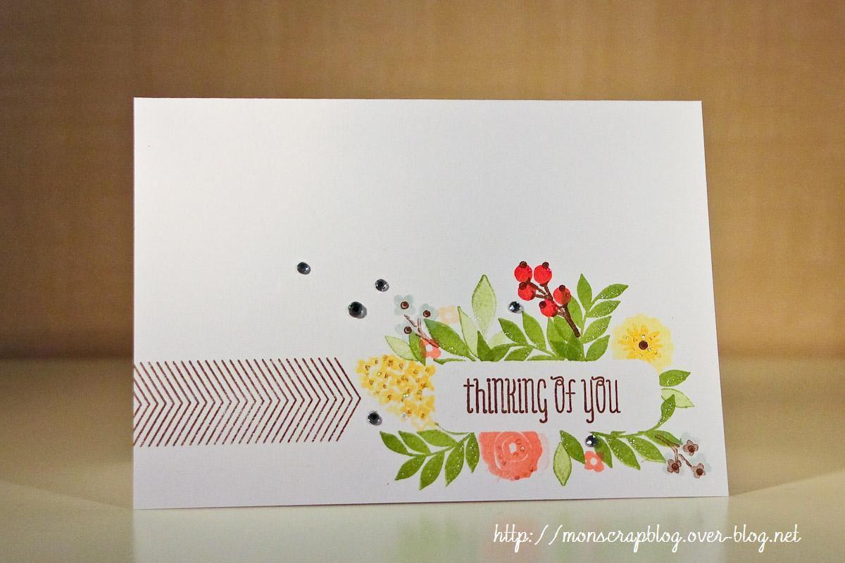Carte florale &quot&#x3B;one layer&quot&#x3B;