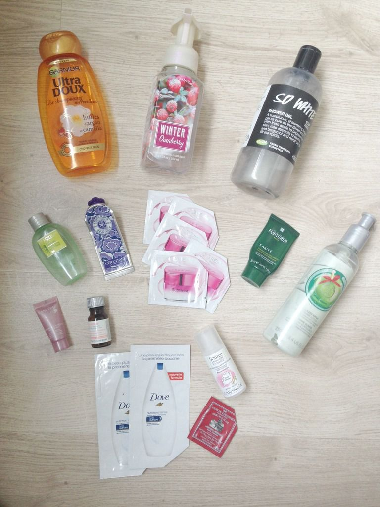Mes produits terminés de décembre 1: Lush, the body shop, bath and body works, lancôme...