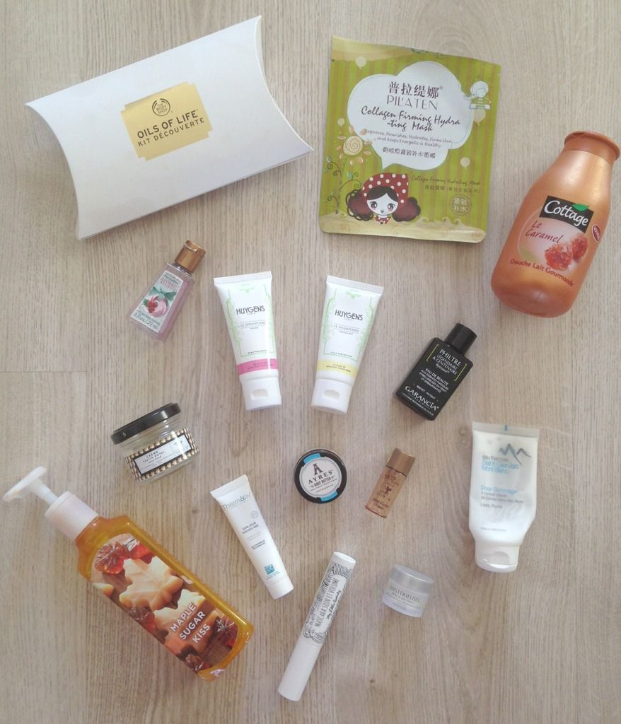 Mes produits terminés de décembre 2: The body shop, Baija, huygens, bath and body works...